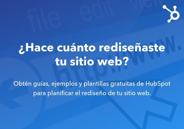 Guía básica de HubSpot para rediseñar tu sitio web