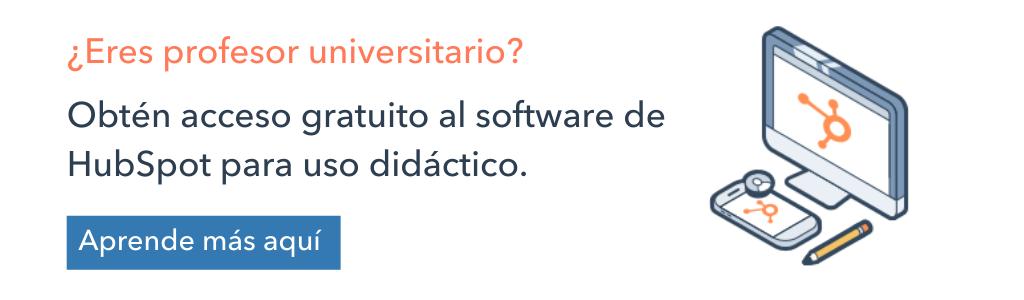 software de Hubspot para uso didáctico