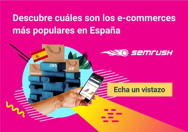 ecommerce más populares en España según SEMrush
