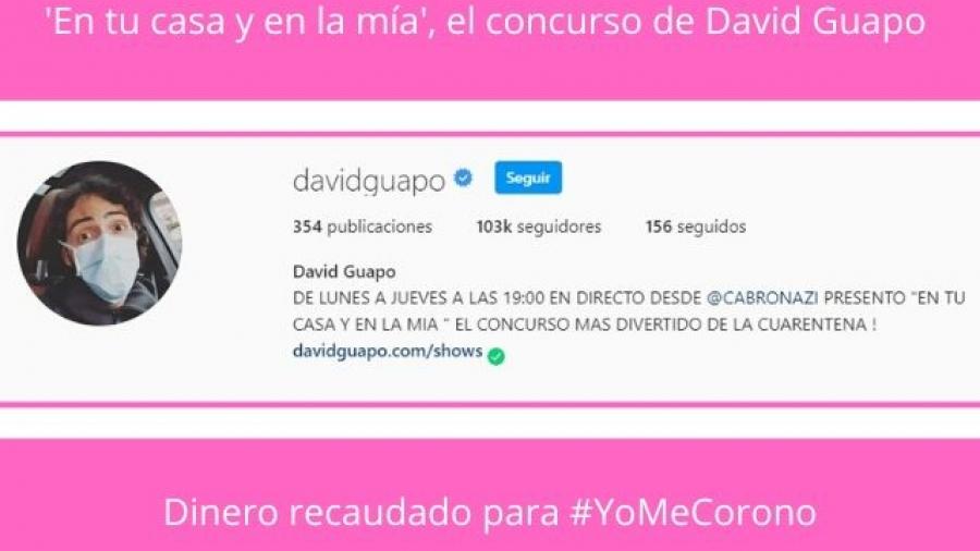 David Guapo presenta en Instagram 'En tu casa y en la mía'