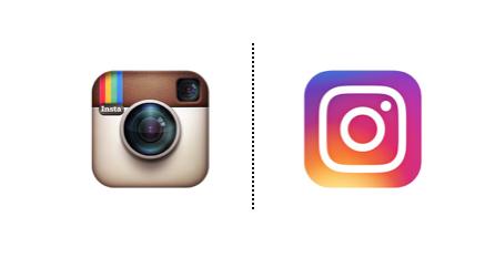 Rebranding de las marcas: Netflix Instagram y Los 40 Principales.