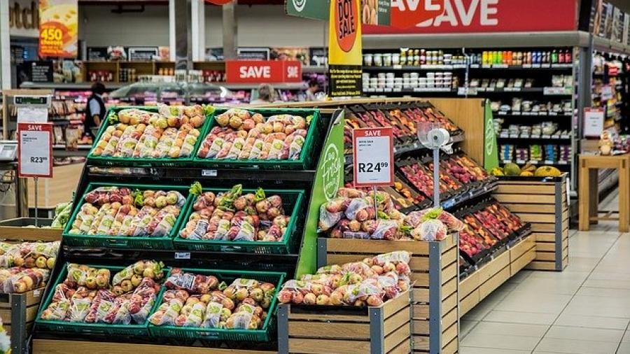 Exposición de productos de un supermercado.