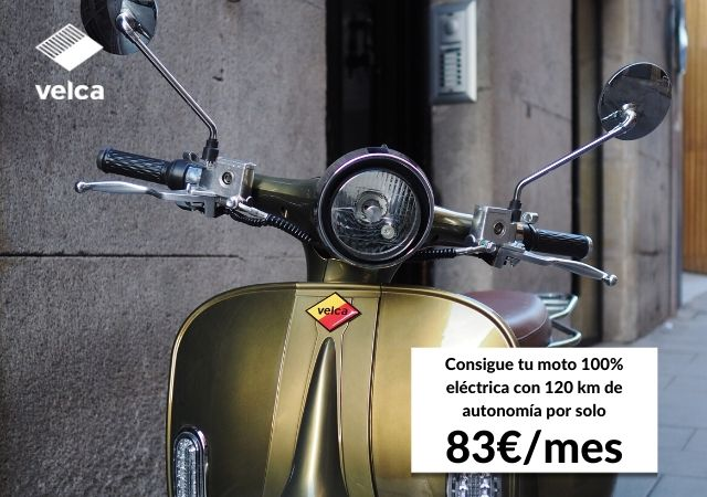 Banner de Velca, empresa de motosharing