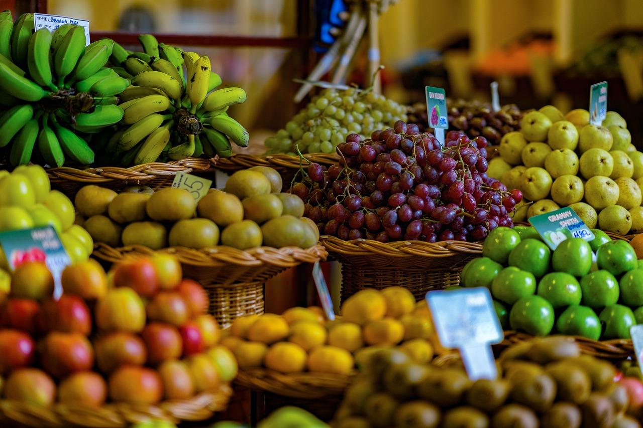 Frutas y verduras de la zona