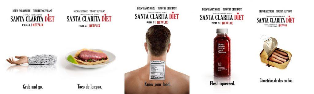 Carteles serie Santa Clarita Diet de Netflix. Fuente: Colaborativo
