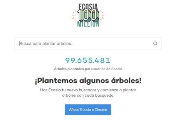 El buscador Ecosia ayuda a plantar árboles
