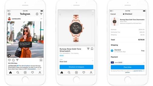 ejemplo de tiendas en Instagram o Instagram Shopping
