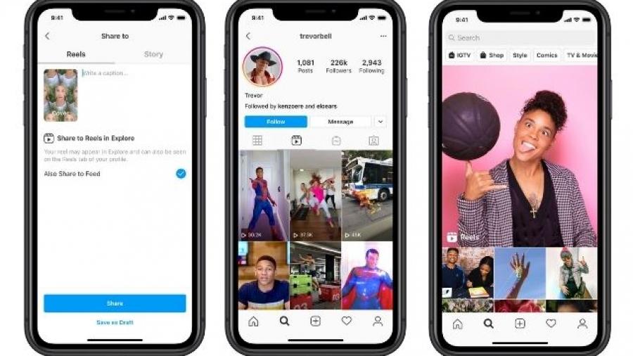 Instagram Reels vídeos cortos en Instagram