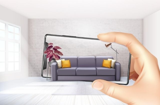 realidad aumentada en campañas de marketing. Vector de Tecnología creado por macrovector - www.freepik.es