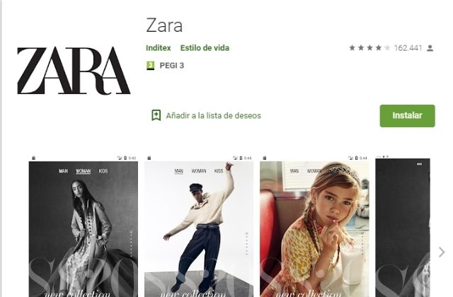 nueva app de Zara