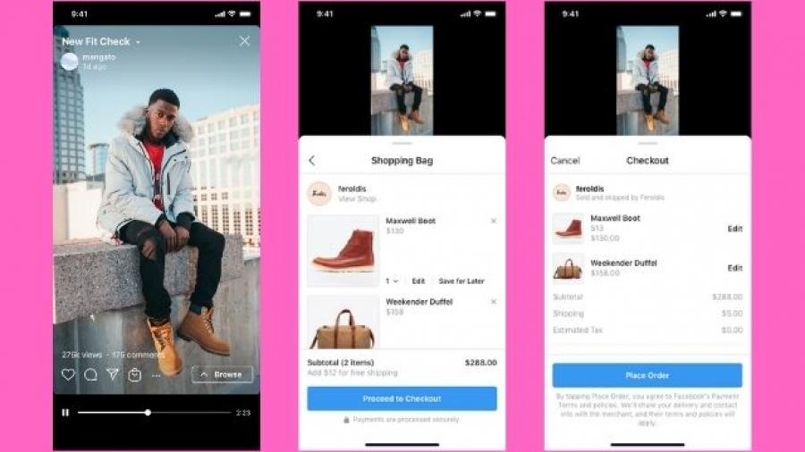 despliegue de Instagram Shopping en IGTV y Reels