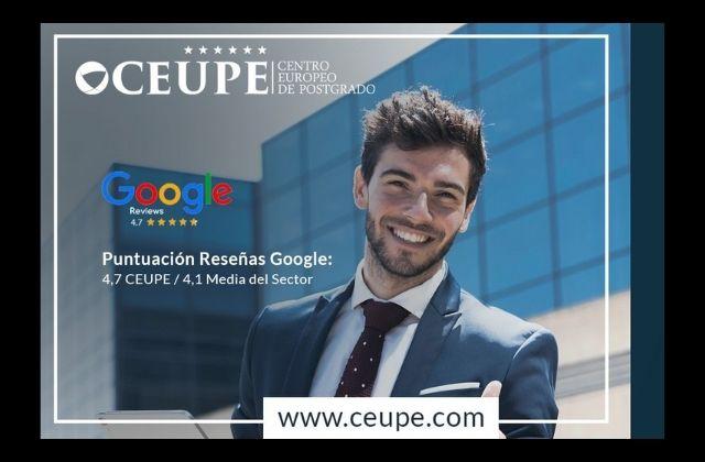 CEUPE, mejor Escuela de Postgrado Online en español para Google