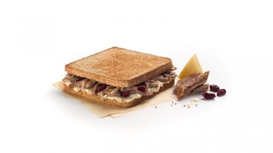 nuevo sándwich caliente Acción de Gracias de Rodilla
