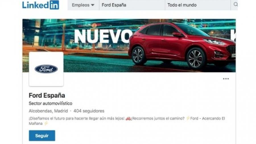 perfil de LinkedIn de Ford España