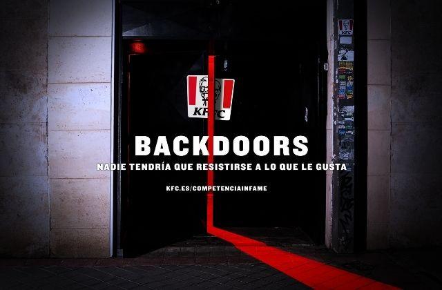campaña Backdoors de KFC para su hamburguesa La Infame