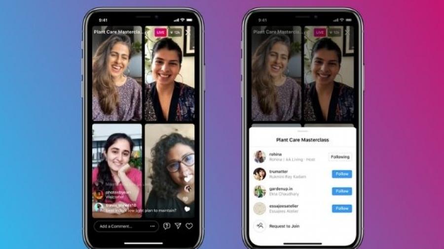 Live Rooms de Instagram permitirá emisión de hasta 4 personas