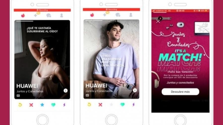 campaña Juntos y Conectados de Huawei y Tinder