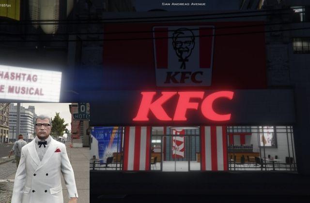 El Coronel Sanders y KFC en Marbella Vice