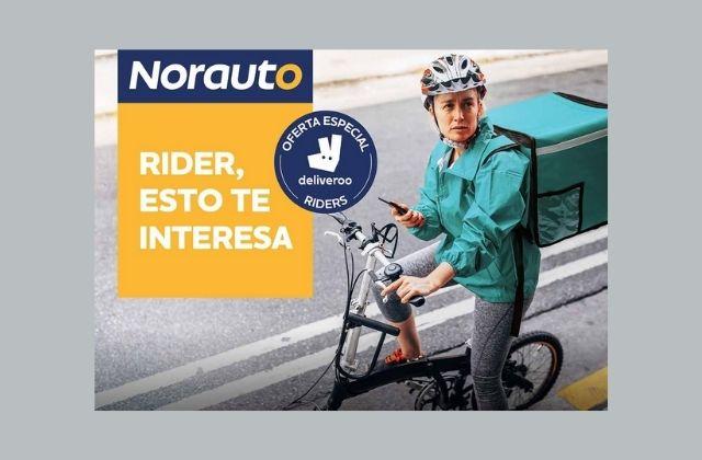 Norauto ofrece descuentos en bicicletas estáticas a riders de Deliveroo