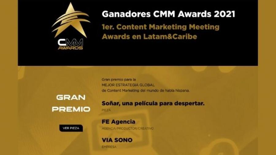 ganadores de los CMM Awards 2021 del Content Marketing Meeting 2021