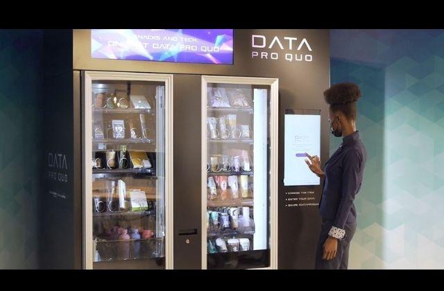 Data Pro Quo, máquina vending para pagar productos con datos
