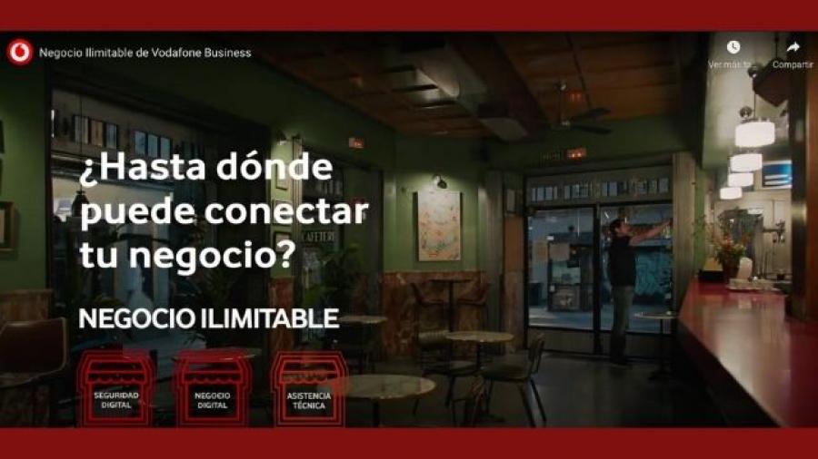 campaña DAVID para la oferta Negocio ilimitable de Vodafone Business