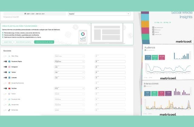 cómo elaborar informes de redes sociales con Metricool
