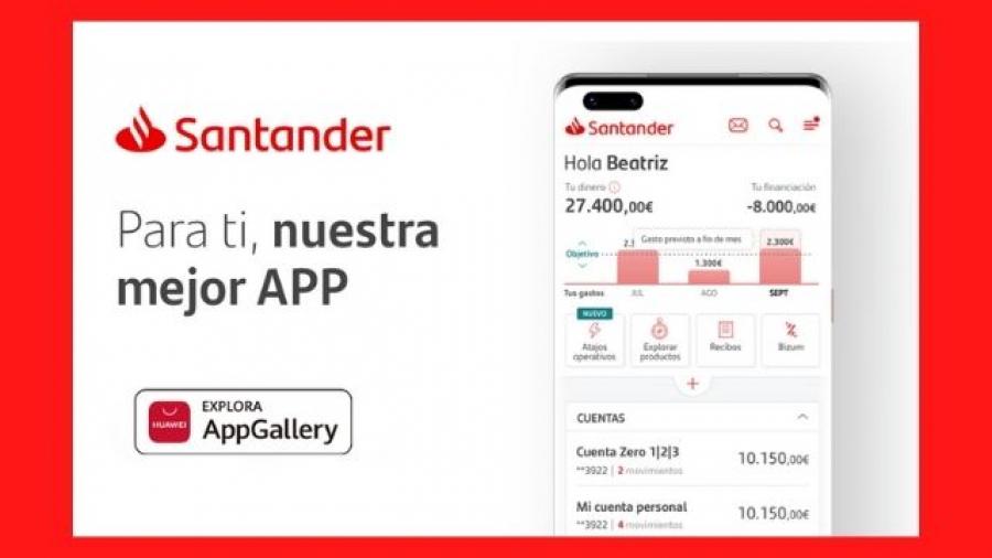 la app del Santander ya está disponible en la plataforma AppGallery