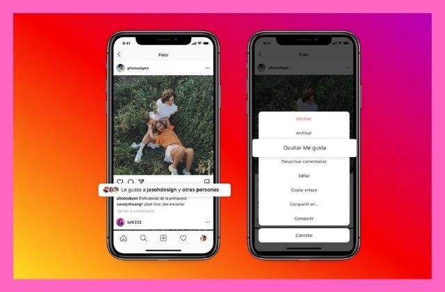 los usuarios pueden ocultar los Me gusta de Instagram y Facebook