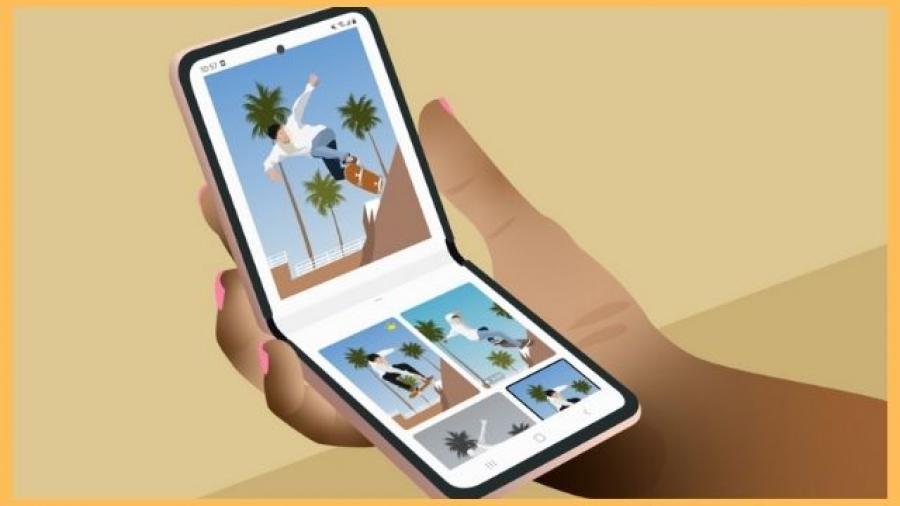 nuevo dispositivo Galaxy Z Flip de Samsung