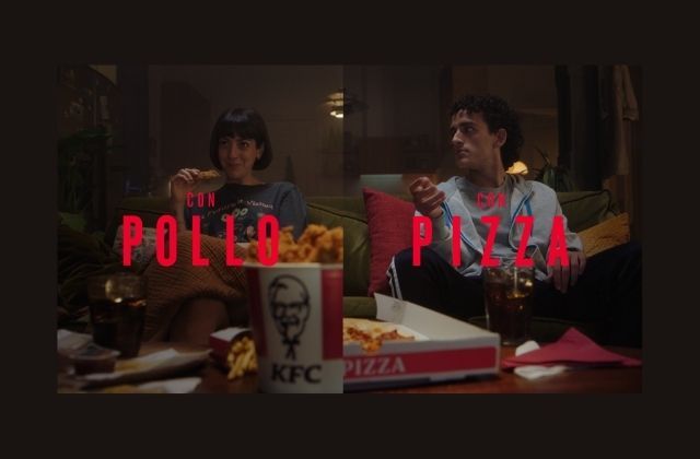 campaña de KFC para delivery de pollo