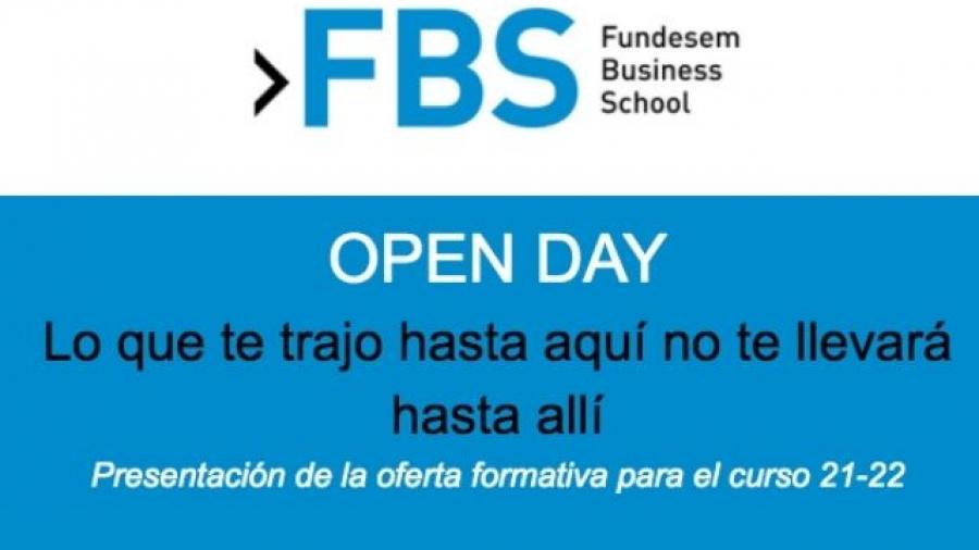 Open Day 2021 de Fundesem Business School