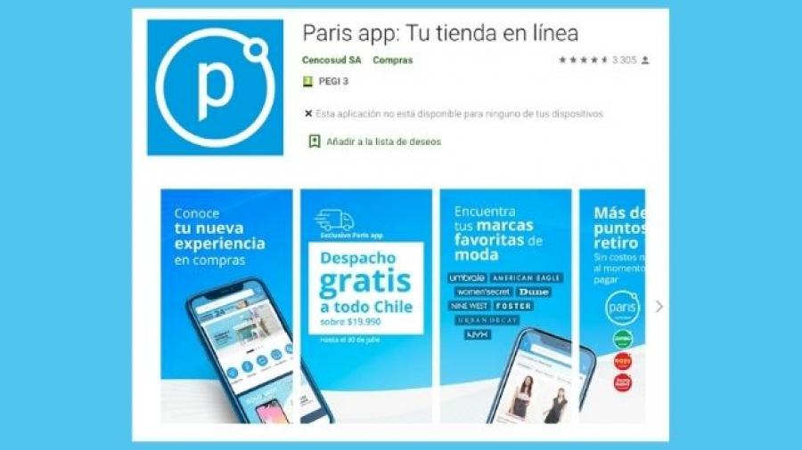 nueva app de Paris