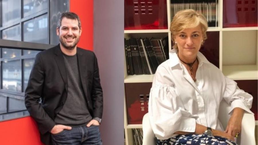 David Pueyo (Inspirational 2021) y Reyes Justribó (IAB Spain)