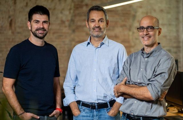 Rubén Ferreiro (CEO), Joan Miró (Director General) y Joaquim Coll (Director del Área de operaciones) de la consultora Kraz