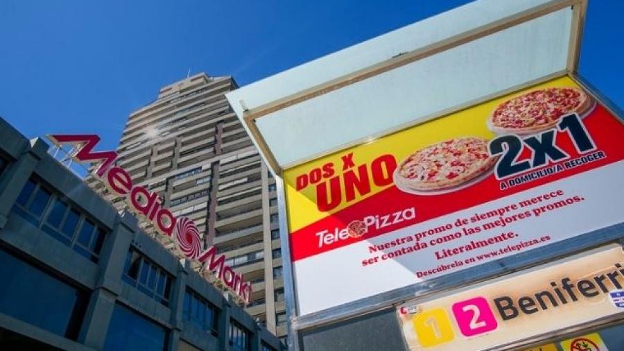 campaña de la promoción 2x1 en pizzas de Telepizza