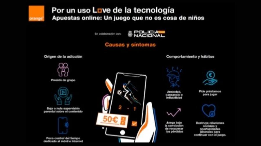iniciativa Por un uso love de la tecnología de Orange y la Policía Nacional
