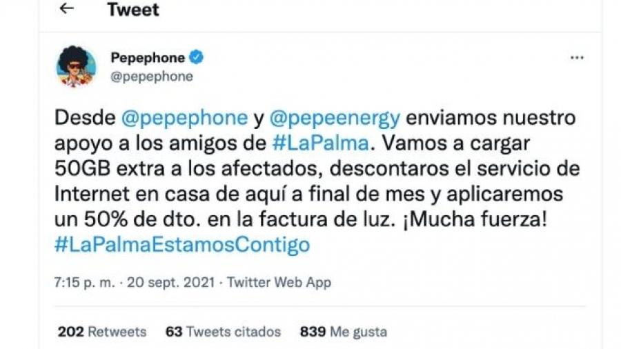 medidas de Pepephone para los afectados por el volcán de La Palma