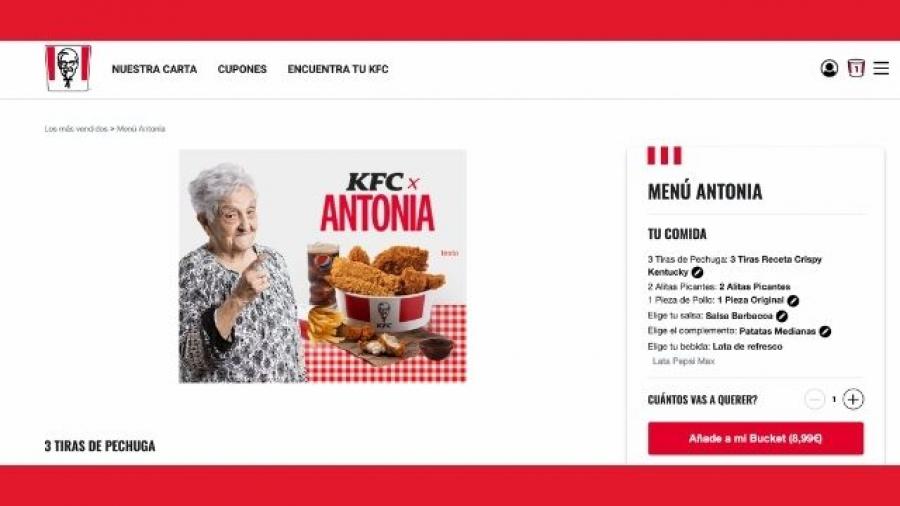 promoción Menú Antonia de KFC